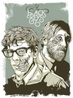 GigPosters.com - Black Keys, The #gig #black #illustration #poster #zombie #keys