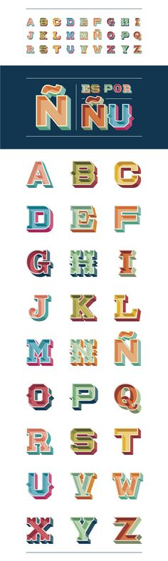 Fun Choices Lettering on Typography Served #alphabet #vintage style #3d