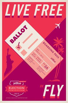 Stout_JetBlue_ElectionProtection_04 #jetblue #stout #poster #advertising