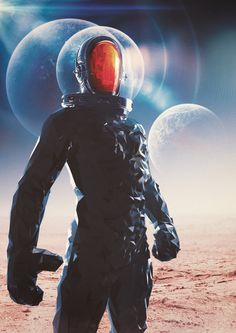 Astro Metal Front by Flavio Montiel #illustration #space #astro #astronaut