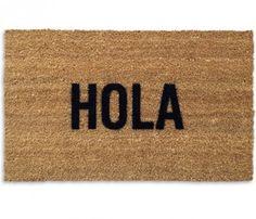 Hola Doormat #stencil