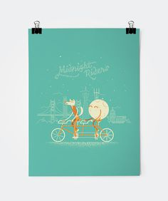 Artcrank_large #illustration #couples #tandem #wolf #poster #moon