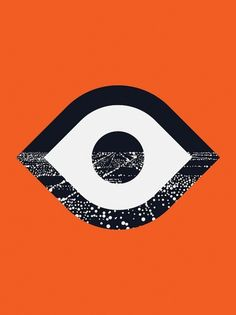 City logo #city #orange #eye #illustration #logo