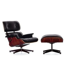Original Eames Lounge Chair and Ottoman | Vitra | Charles & Ray Eames #ray #cahrles #eames