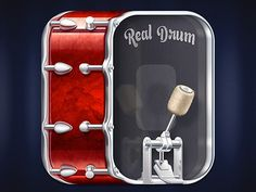 Realdrum #icon #iphone #application #ipad