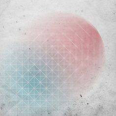 Fading geometric shapes, red & blue (by smpl8) #circle #red #geometry #geometric #texture #illustration #shape #blue
