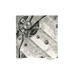 Ben Shafer Concept Art #interior #clockwork #drawing #illustration #machinery #watch #cogs #pencil #metallic