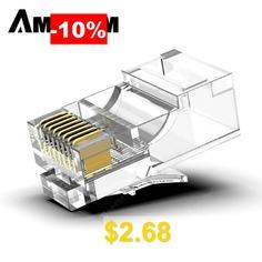 AMPCOM #CAT5e #Modular #Plug #Ethernet #Cable #RJ45 #Connector #30u #50u #gold-plated