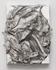 Painting as Sculpture by Jason Martin | PICDIT #art #sculpture #painting #silver