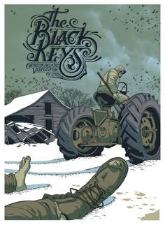 Jeff Proctor #illustration #typography #the black keys