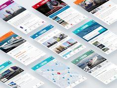 Skipper App UI/UX visual on Dribbble
