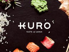 KURO Japanese Restaurant Wordmark #wordmark #restaurant #japan