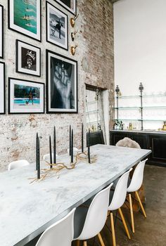 Brooklyn Loft with Aged Brick, Concrete Floors, and Exposed Beams