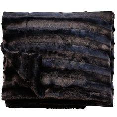 Channel Plush Throw Black 125cm x 150cm