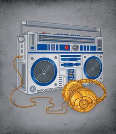 Enkel Dika Â« Whitezine | Design Graphic & Photography Inspirations #d2 #wars #headphones #rs #illustration #star #3po #boombox