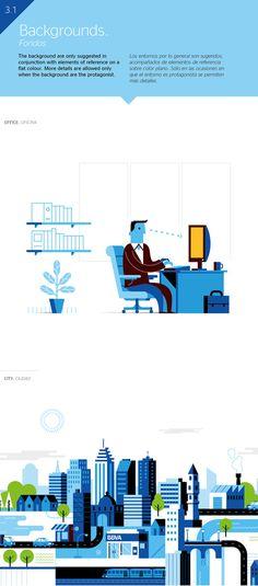 BBVA Corporative Illustration #computer #vector #business #corporate #illustration #blue