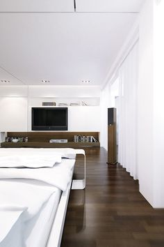 CJWHO ™ (luxury wooden white bedroom | LINE Architects) #white #design #bedroom #interiors #wood #photography #luxury