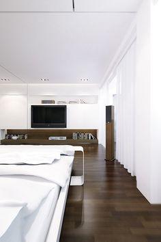 CJWHO ™ (luxury wooden white bedroom | LINE Architects) #white #design #bedroom #interiors #wood #photography #luxury