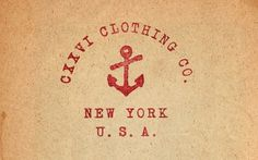 CXXVI Clothing Co. — Fall 2010 #type #anchor #cxxvi #vintage