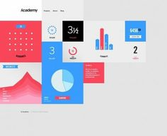 The website design showcase of Academy. #grid #shape #website