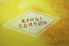 Kings Canyon - Brenna Signe #logo #design #graphic