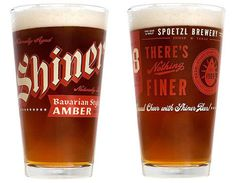 Shiner Bavarian Amber Glassware #pint