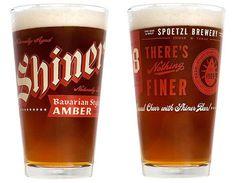 Shiner Bavarian Amber Glassware