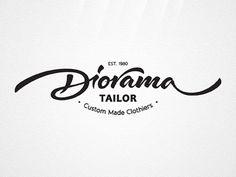 Diorama Tailor by Dalibor Momcilovic #logo design #identity #branding #hand lettering