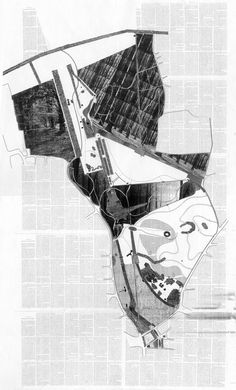 Design of a Dutch Park, adapted from the book 'Nightwood' by Djuna Barnes. Paul Roncken 1996 #urban