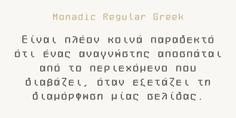 Monadic typeface (font) designed by Thoma Kikis. Teknike.com - #monadic #typeface #font #kikis #thomakikis #geometry #stencil #lettering #greek #latin #cyrillic #teknike