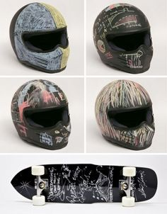 chalk-skateboard-helmet-designs.jpg (468×600) #helmet #chalkboard #bike #motorcycle