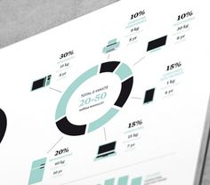 MagSpreads - Magazine Design and Editorial Inspiration: Makeshift Magazine #infographic #pie chart