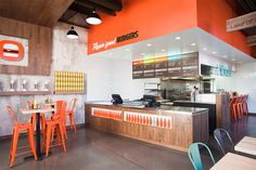 Fame, fame retail, retail, design, space, bright, bold, color, interior, Burger