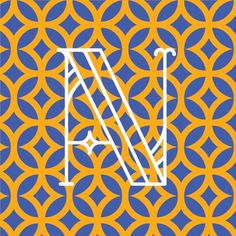 Drop caps and dutch patterns on west end girl #letters #letterer #yellow #letter #european #blue #dutch #typography