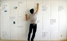 Christiaan Postma | Design Milk #calendar #wall #typography