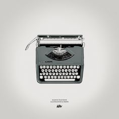 Silence Television new vintage prints #white #print #black #illustration #vintage #and #type #bw #typewriter