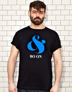 AND SO ON - black t-shirt - men | NATRI - Shirt Label #modern #print #design #shirt #ampersand #minimal #fashion #type #typography