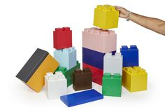 Nothing much more fun than building furniture and decor from colorful blocks. #blocks #fun #colorful #decor #design