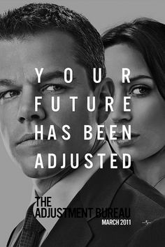 The Adjustment Bureau Poster | Shiro to Kuro #movie #design #poster