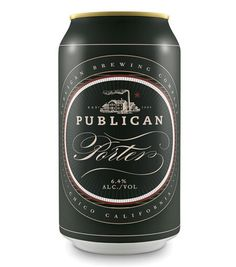 Publican Brewing Company Cans #packaging #beer #can #label