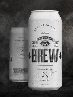 Bitches brew #packaging #beer #can #broomstick blonde
