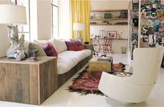 taken from novebmer of amy amazing room #wood #furniture #couch