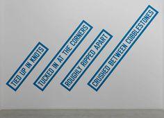 a f a s i a: Lawrence Weiner #brutalism