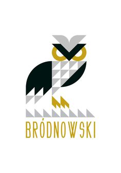 Paweł Ryżko, Bródnowski. #owl #print #bird #illustration #triangle #ryzko #typography