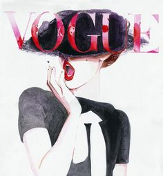 Deutche Vogue | Cate Parr #fashion #illustration #vogue