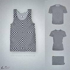 MNML Optical Illusion Pattern in b&w @threadless Amazing minimal detailed Optical illusion ind fancy black & white. Modern fashion accessor