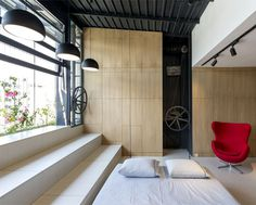 Space-Saving Design Idea at 45m2 Apartment - InteriorZine #home #decor #interior