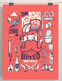 SHOW-BILL en Behance #beard #1988 #vintage #poster #smoking #bad