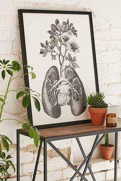 Fleuriosity Flourishing Lungs Art Print, Urban Outfitters