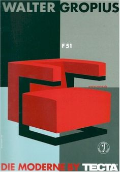 poster-tecta-gropius-F51.jpg 418×600 pixels #walter #tecta #1920 #armchair #gropius